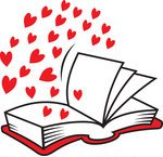 open book with hearts