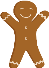picture of a gingerbread man cookie