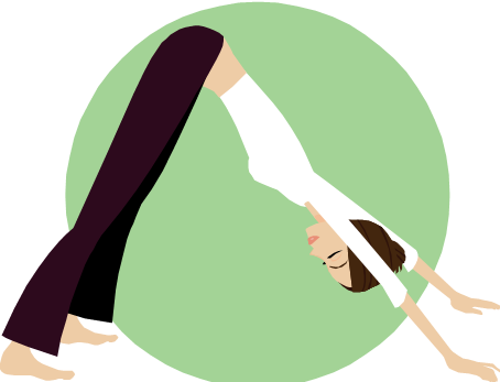 Illustration of woman in yoga position