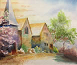 Watercolor Image of Hopkinton Public Library